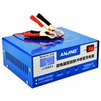 Cargador de batería del coche 12 v 12 v 24 v automático eléctrico cargador de batería de coche inteligente pulso reparación tipo 100AH para motocicleta