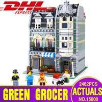 DHL City Street Building 15008 compatible avec 10185 vert épicier modèle Kits de construction blocs briques jouet éducatif pour les enfants