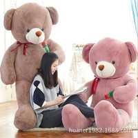 120 cm oso de peluche gigante con Rosa juguetes de peluche oso de peluche animales de peluche juguetes de peluche