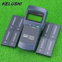 KELUSHI multifunción LAN de red de Cable de teléfono probador del metro Cat5 RJ45 Mapper 8 Unid lejos Jack de prueba NF-8108-M envío rápido