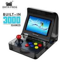 Data Frog Retro ARCADE Mini consola de videojuegos 4,3 pulgadas construido en 3000 juegos de mano consola de juegos familia niño regalo juguete