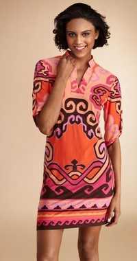 Mujeres vestido de verano ruched Top seda 2017 de estilo de la camisa de una sola pieza del collar del soporte de impresión punto elástico