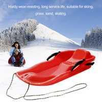 7 color deportes al aire libre plástico rodapiés trineo nieve hierba arena esquí pad snowboard con cuerda para Doble personas