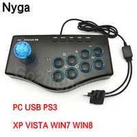 Cable USB GamePad para PC controlador de juego de Arcade Joystick USB lucha Gamepad del regulador del Mame para PC PS3 de juego