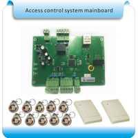 TCP/IP 1 doble puerta lector RFID de control de acceso Panel de Control de Acceso sistema de control de acceso de la puerta + 2 lector 10 cristal etiquetas