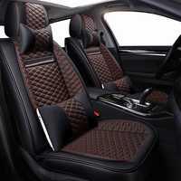 Fundas de asiento de coche de cuero PU de alta calidad para ford focus 2 bmw e60 chevrolet cruze vw golf mk2 passat cc kia sportage chrysler
