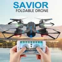 Super 8809 2 720 p 2,4g UAV WIFI aérea plegable vehículo Drone RC avión juguete Dropshipping