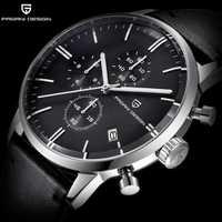Reloj de lujo con diseño de PAGANI, reloj de cuero para hombre, reloj de cuarzo militar resistente al agua, cronógrafo para hombre, relojes para hombre