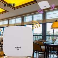 300Mbp inalámbrico de alta potencia Montaje del techo del punto de acceso Wifi repetidor trabajo con Cloud Server 48 V POE AP Software controlador