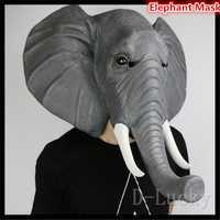 Halloween props elefante adulto Máscaras animal completo máscara de látex mascarada fiesta de cumpleaños de goma silicona Cara máscara disfraz Juguetes