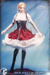 Conjunto de ropa Lolita gótica de Caperucita Roja a escala 1/6 para muñeca femenina TBleague S22A de 12 pulgadas, figura corporal, FASToys FA-18-07