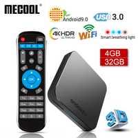 2019 Nouveau MECOOL KM9 Android 9.0 TV Box Amlogic S905X2 Quad Core 4G DDR4 32G ROM 4 K android 9 boîtier de smart tv USB 3.0 lecteur multimédia