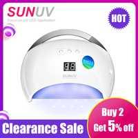 SUNUV SUN6 48 W secador de uñas portátil nuevo estilo lámpara UV para secado de hecho bajo el calor de modelo de doble de rápido manicura lámpara colorida