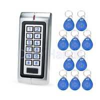 Plata IP65 máquina de control de acceso impermeable metal RFID 125 Khz lector de tarjetas para el sistema de cerradura eléctrica soporte 2000 usuarios