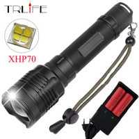 40000 Lumes XHP70 linterna LED XHP50 convoy lente 40 W chip Lámpara 2*26650 poderoso táctica LED luz de Flash antorcha Zoom linterna LED