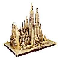 Rompecabezas de madera 3d para niños y adultos modelo la Sagrada Familia A niños juguete de la famosa serie de construcción un mejor regalo para niños