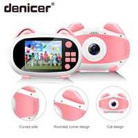 Denicer niños Mini cámara wifi niños juguetes educativos para niños regalos de bebé cumpleaños cámara digital de regalo 1080P cámara de vídeo