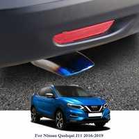 Coche silenciador de escape punta Trim modificado coche trasera de la garganta del trazador de líneas para Nissan patadas Qashqai J11 2016-2019 trasero punta de la garganta