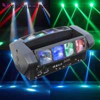 Mini araña cabeza móvil 8x6 W LED RGBW haz escenario Dj Disco láser mostrar sonido