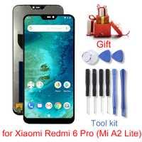 Nuevo para Xiao mi Redmi 6 Pro (mi A2 Lite) de la pantalla LCD y digitalizador de la Asamblea de piezas de reparación