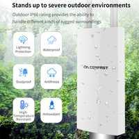 5 Ghz de banda Dual de alta potencia al aire libre AP 1200 Mbps 360 grado omnidireccional cobertura punto de acceso Wifi estación Base con 2 antenas