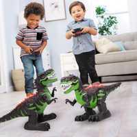 2019 Control remoto dinosaurio RC juguetes caminando Tyrannosaurus Rex recargable Dino para niños con luz y sonido VB