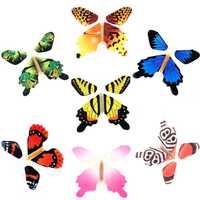 50 unids/pack Magic Toy Transformation Fly Butterfly Props truco mágico Cambio de manos divertido broma mística juguete sorpresa regalo