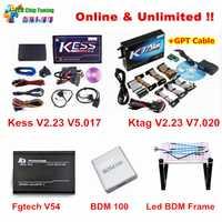 La versión en línea de KESS V5.017 V2.23 + KTAG V7.020 V2.23 + FGTECH Galletto V54 + bdm100 + LED BDM K etiqueta FG TECH ecus Chip Tuning