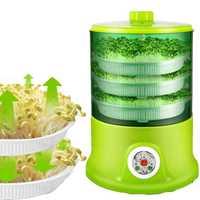 Máquina Inteligente de brotes de soja s, máquina automática de crecimiento de gran capacidad, termostato de semillas verdes, máquina automática de cultivo de brotes de soja