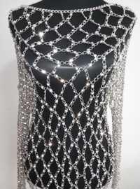 Nuevo estilo de moda WRB971 Rhinestone brillante plata perlas cadenas de joyería Nicki Minaj estilo Rhinestone cadenas joyería vestidor