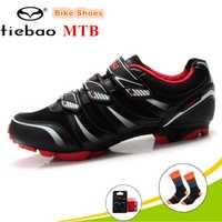 Tiebao zapatos de montaña bicicleta de carreras zapatos de fibra de vidrio-Nylon único zapatos de bicicleta MTB profesional transpirable deportes zapatos