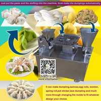 Comprar 80mm de tamaño de bola de masa que hace la máquina de samosa rollo de primavera empanada Pierogi máquina con diferente forma 4800 Uds