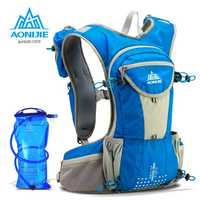 AONIJIE 2018 Nylon 12L ligero deporte al aire libre mochila maratón Trail Running hidratación chaleco paquete 2L bolsa de agua de deportes