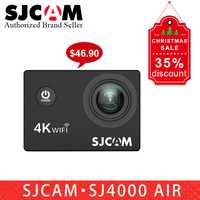 Nuevo regalo SJCAM SJ4000 AIR 4 k Cámara de Acción WIFI Allwinner impermeable deporte DV 2,0