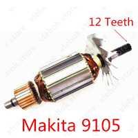 AC 220 V-240 V 12 dientes armadura del Rotor para reemplazar Makita 9105 amoladora recta de herramienta de poder de los accesorios eléctricos herramientas de parte