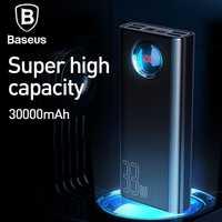 Baseus 30000 mAh Banco de la energía USB C PD rápido de carga 33 W Powerbank cargador para Xiaomi cargador portátil de batería externa poverbank