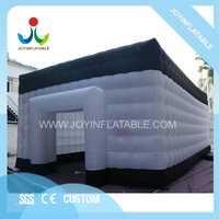 10X6X4 M blanco y negro personalizado carpa inflable al aire libre