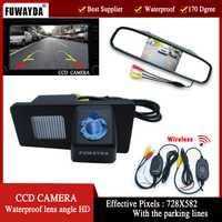 Fuwayda color inalámbrica cámara de visión trasera para ssangyong rexton kyron, con 4.3 pulgadas retrovisor espejo Monitores HD