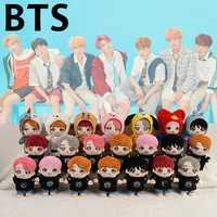 2019 nueva KPOP BTS de dibujos animados de peluche de juguete de peluche muñecas con 3 conjuntos de ropa Bangtan niños juguetes de peluche de felpa muñeca 20 cm/ 8