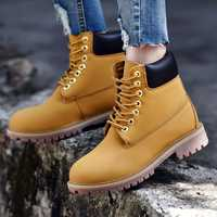 19 hiver hommes amant bottes en cuir en plein air neige bottines à lacets masculins anti-dérapant chaussons britannique Martin chaussures Zapatos De Hombre