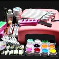 Pro 36 w UV gel lámpara y 12 color UV gel práctica dedos cortador Manicura DIY kits de herramientas Sets en -018 manicura Set