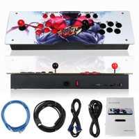 800 en 1 caja 4S Video juegos Retro consola Arcade LED HD 2 Joystick es de hierro Panel acrílico VGA HDMI USB moneda operado juegos