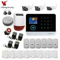 YobangSecurity inalámbrico Wifi GSM RFID hogar Oficina seguridad antirrobo intruso sistema de alarma exterior IP Cámara humo fuego Sensor