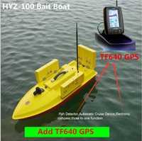 Barco de pesca Contorl remoto grande inteligente 100 cm 2,4g 500 m 7 kg carga 4 cebo bien 4 líneas RC cebo barco añadir Detector de peces GPS