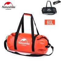 Envío gratuito a todo el mundo Naturehike nueva bolsa de Rafting al aire libre Camping senderismo deporte bolsas impermeables gran capacidad bolsa seca 60L