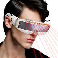 Kaigelin etapa gafas láser 5 V tipo botón Disco de luz láser etapa del Disco de DJ KTV partido Luz