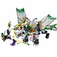 1100 pièces Ninja Ultra Dragon Compatible LegoING Ninjagoes Dragon Blocs De Construction Briques Jouets pour Enfants Cadeau D'anniversaire