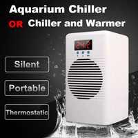 Enfriador de agua de acuario de 110-240 v o enfriador de calor Semiconductor Control de temperatura para el tanque de camarón de peces arrecife de Coral marino tanque