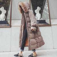Chaqueta de Invierno para mujer de invierno de alta calidad mujer moda abrigo largo slim color sólido mujeres chaqueta parkas mujer abrigo de invierno