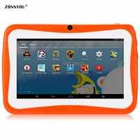 7 pulgadas niños Tablets PC Quad Core 512 mb + 8 GB Android4.4 wi-fi Tablets bebé juegos diseñado para niños con caja de regalo